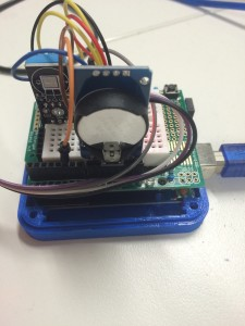 Arduino Uno with I2C LCD Clock and Temp